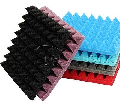 Renkli Akustik Piramit Sünger
